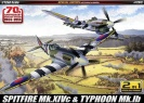 Academy 12512 Spitfire Mk.XIVc & Typhoon Mk.Ib SPECIAL EDITION