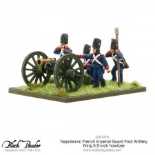 Napoleonic French Imperial Guard Foot Artiller firing howitzer